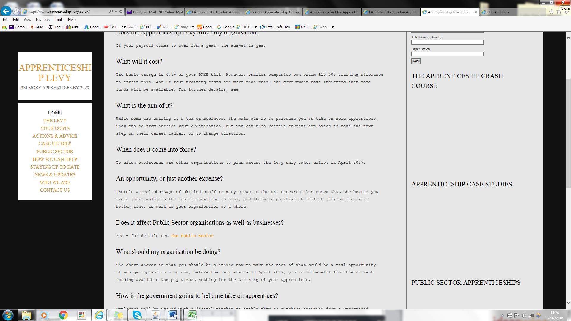 Apprenticeship Levy website