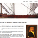 Captain Kidd Pirate Ship Experience website