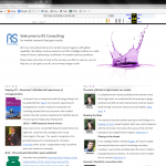 RS Consulting website page