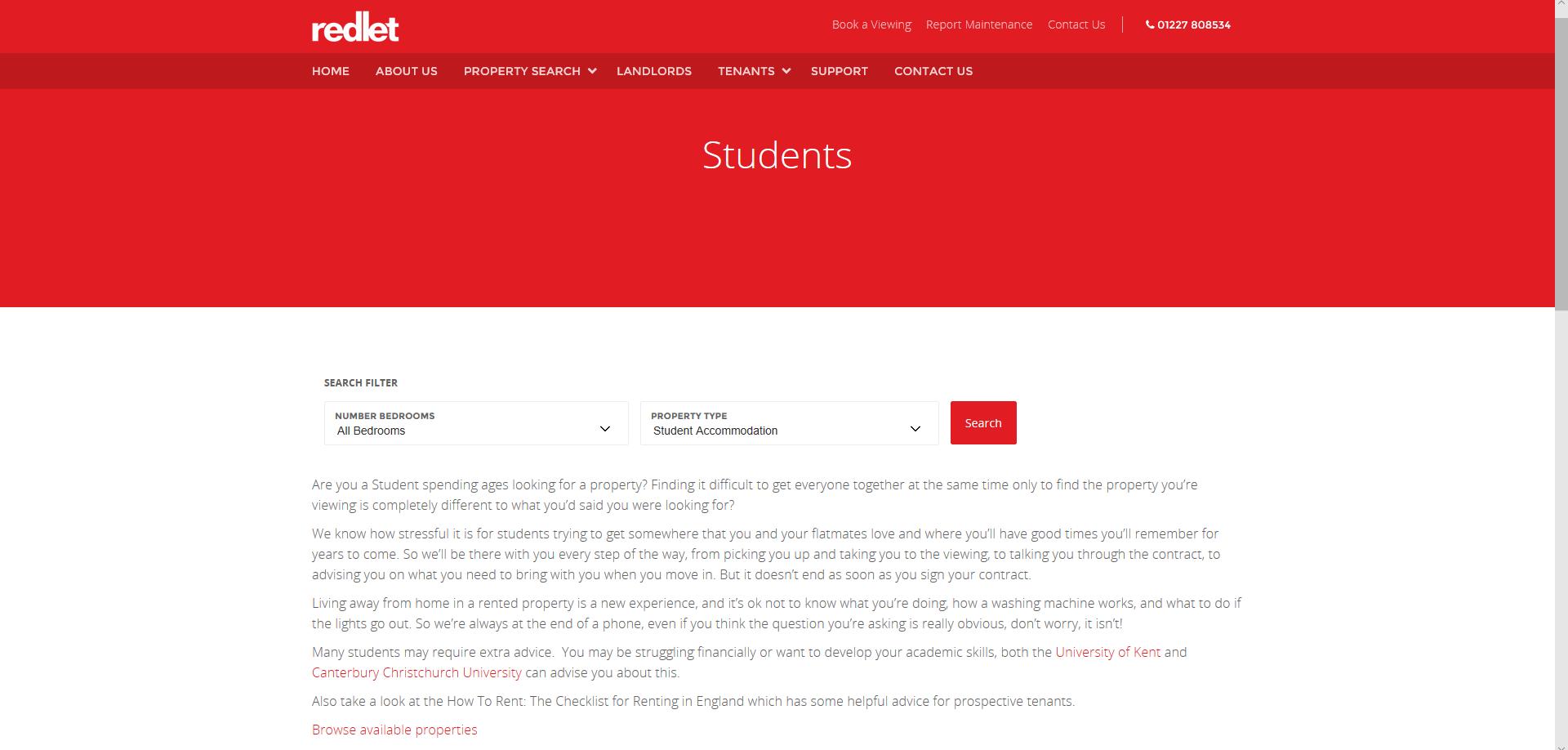 Redlet web page -1