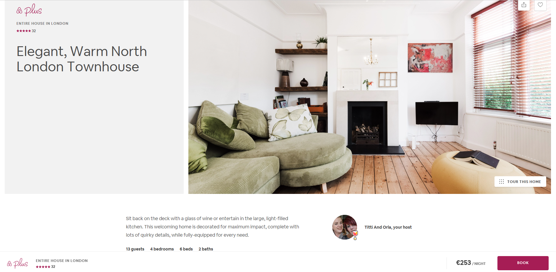 Airbnb select listing