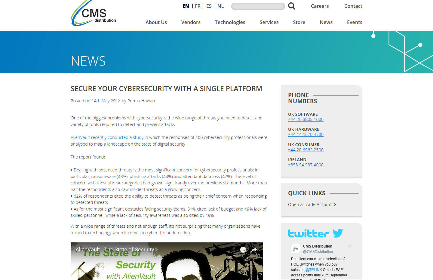 Cybersecurity article