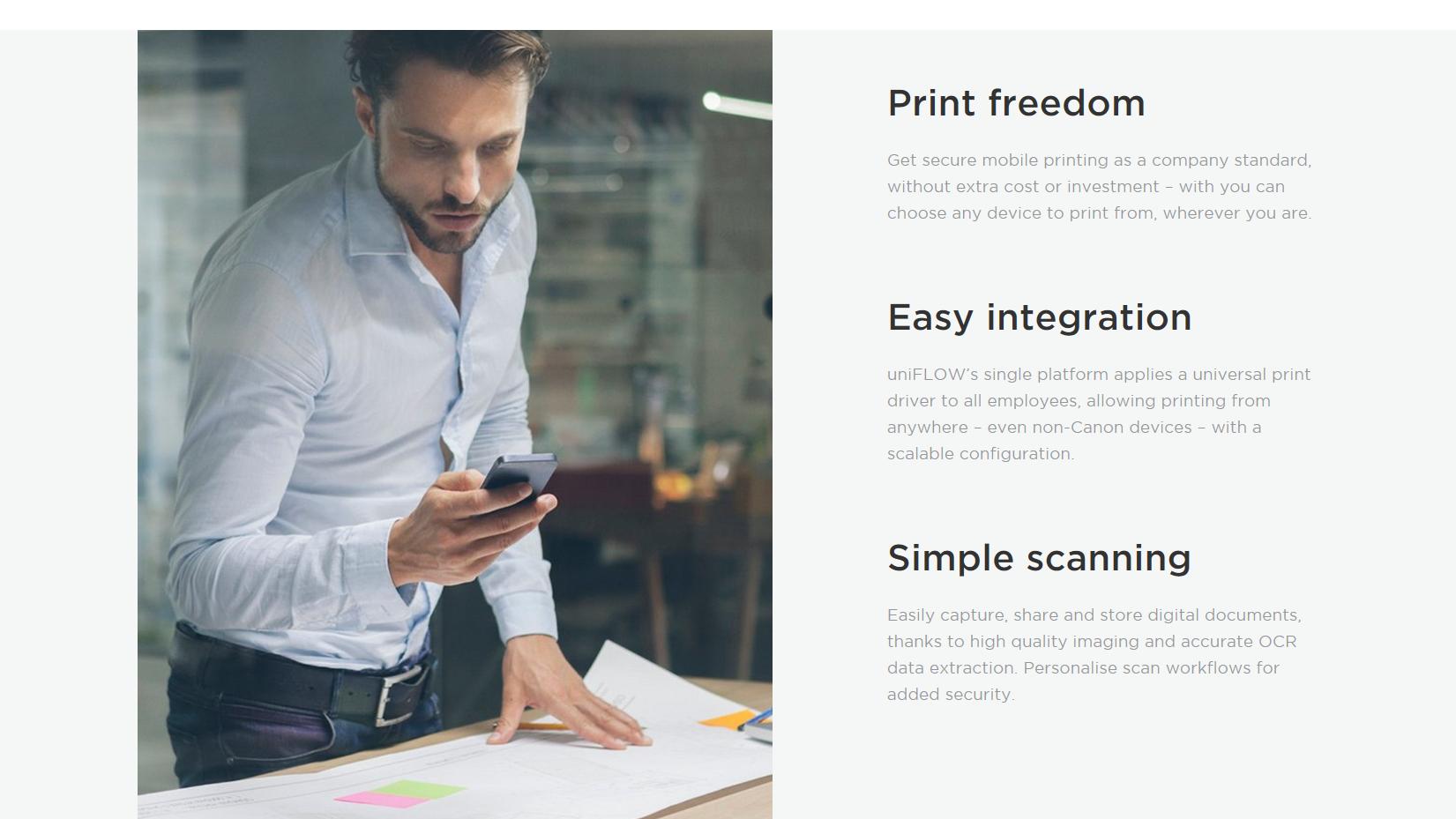 Canon printer web page