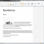 NHS Resilience Programme brochure