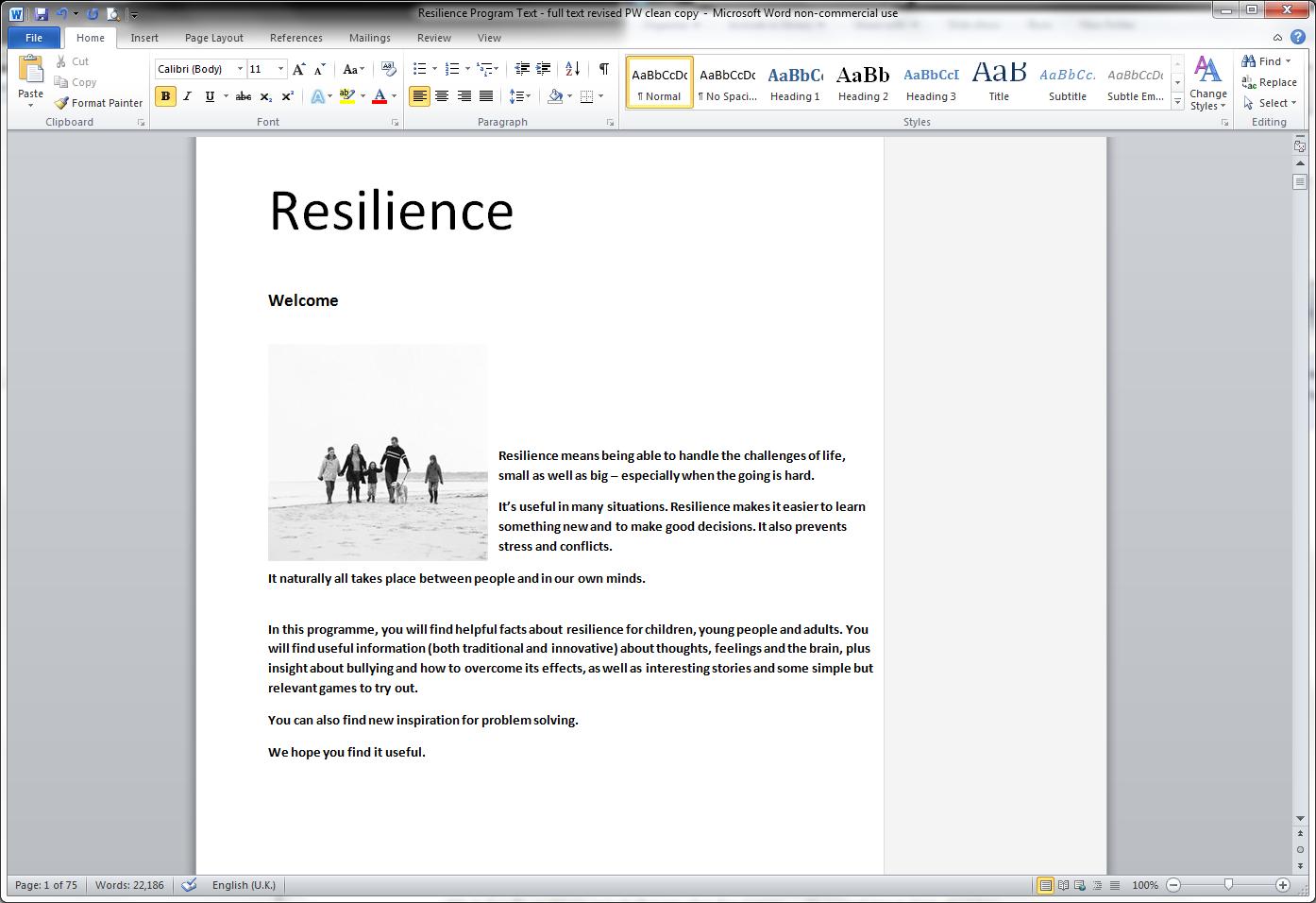 NHS Resilience Programme brochure
