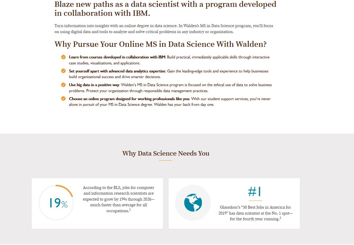 Walden University - IT course details