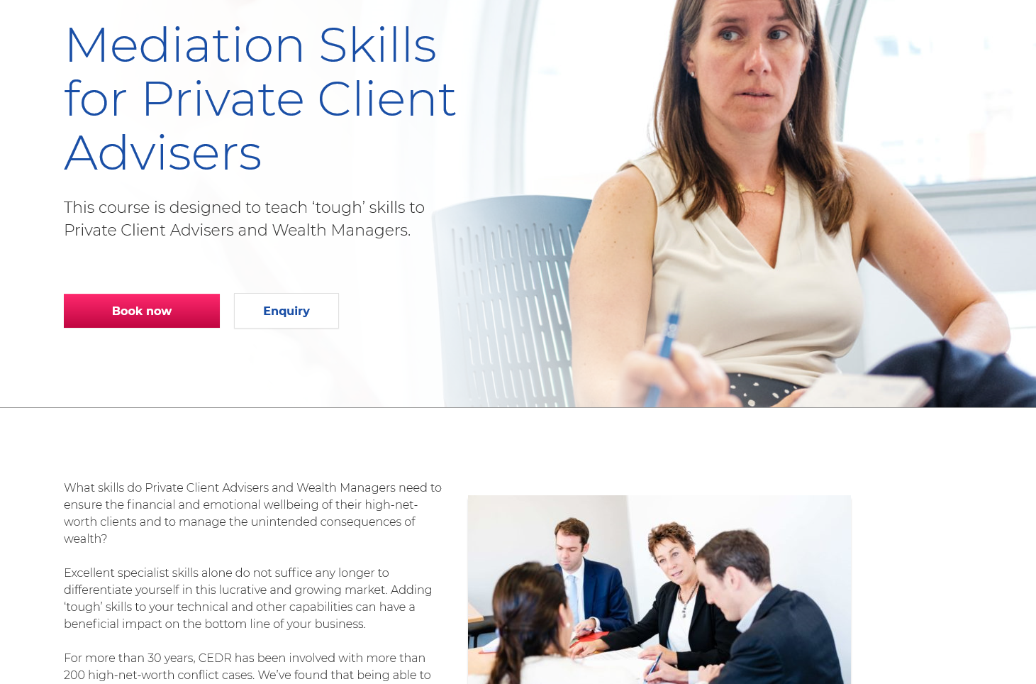 CEDR - mediation skills for HNW advisers