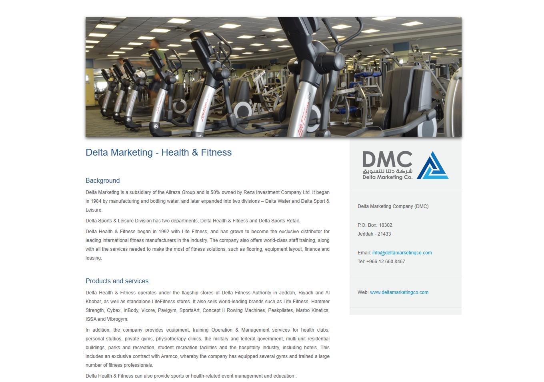 Delta Health & Fitness - web copy