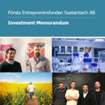Första Entreprenörsfonden - investment proposal document editing