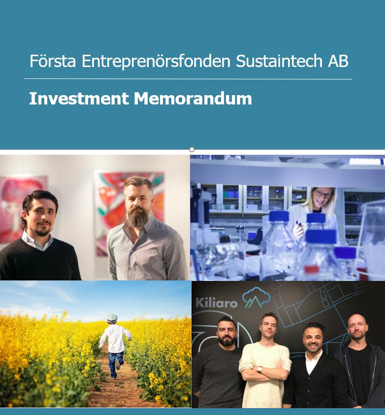 Första Entreprenörsfonden - investment proposal document editing