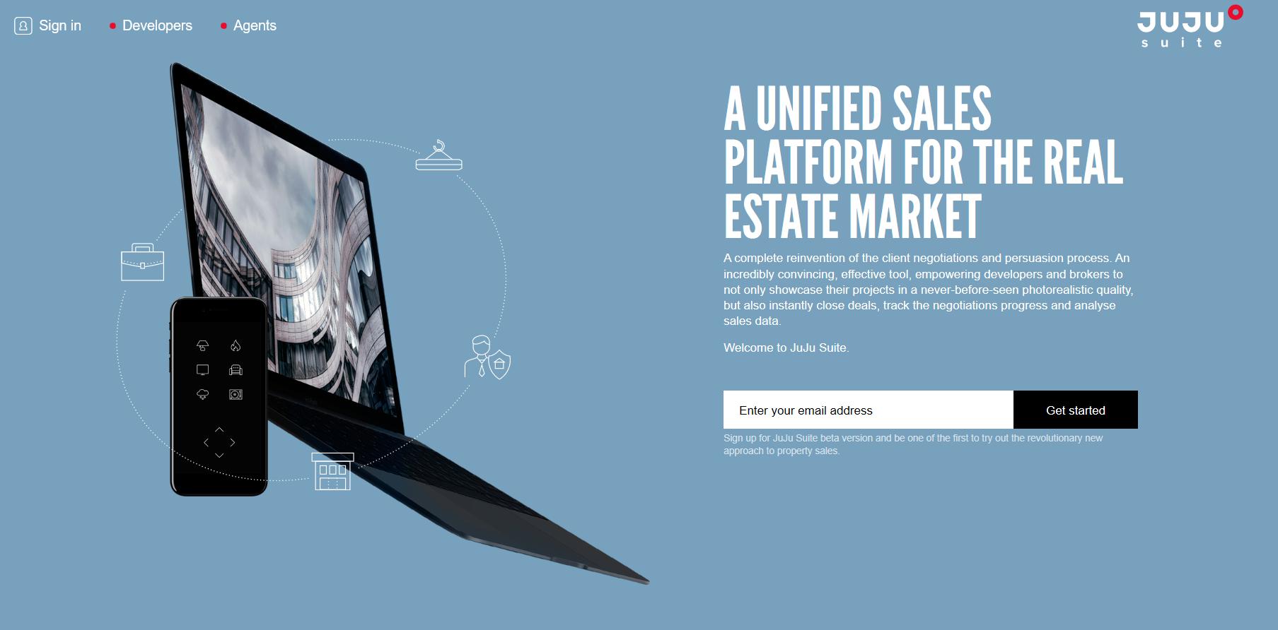 JuJu Suite property sales platform