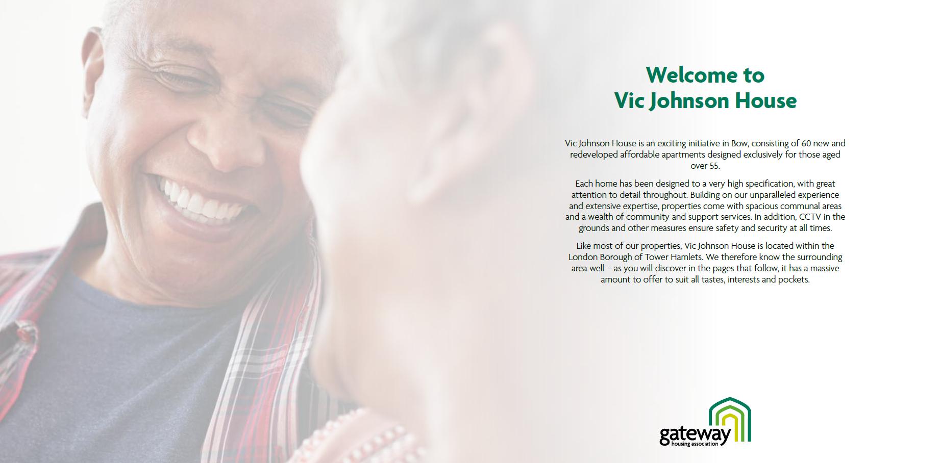 Vic Johnson House brochure