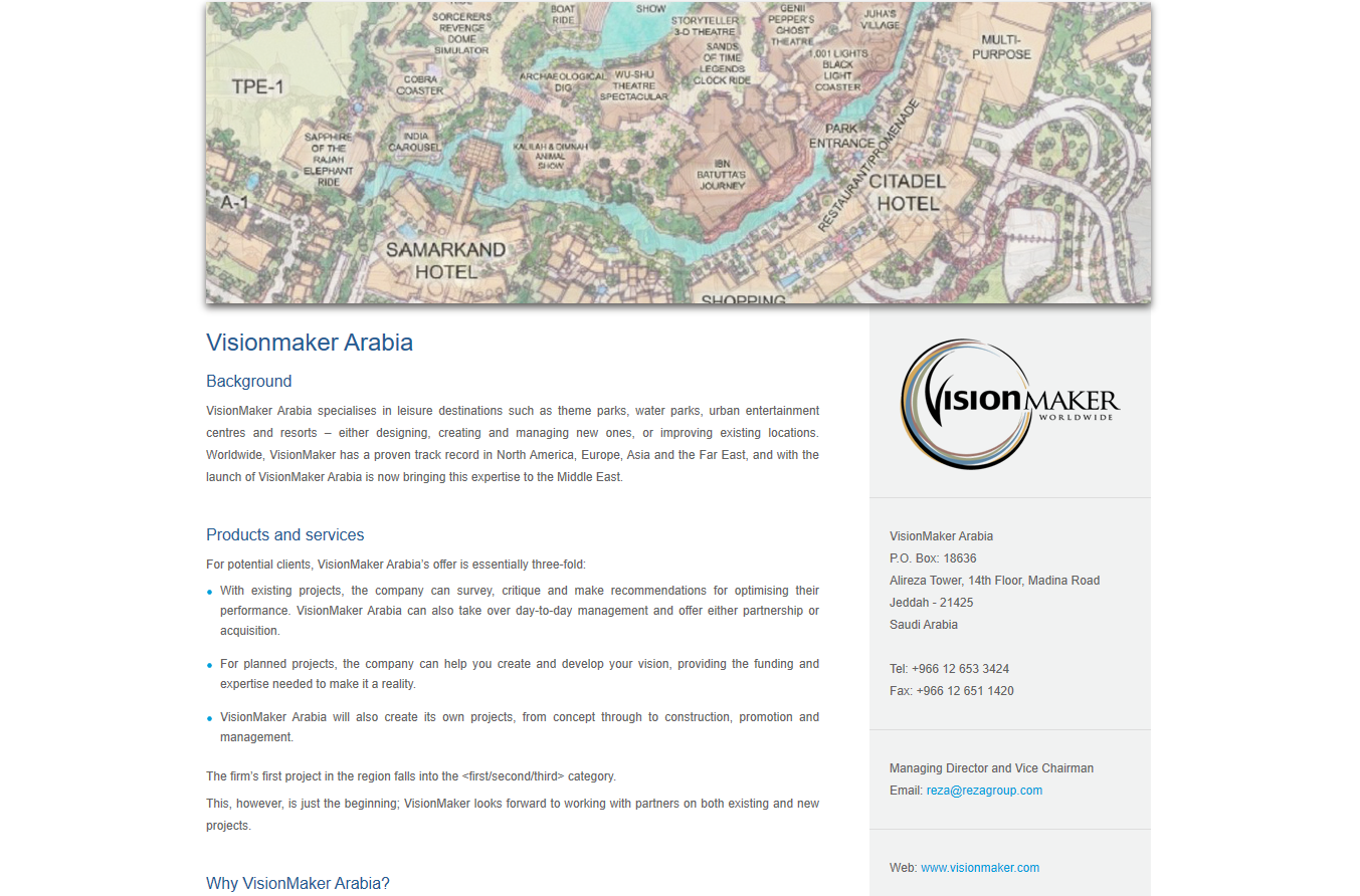VisionMaker Arabia Leisure Property - web copy