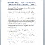 HFW Lawyers Steel Industry Case Study