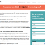 Bison Solicitors - immigration law web page
