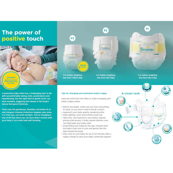 Pampers Preemies leaflet