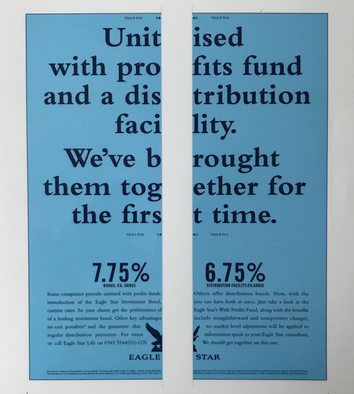 Eagle Star fold-across press ad