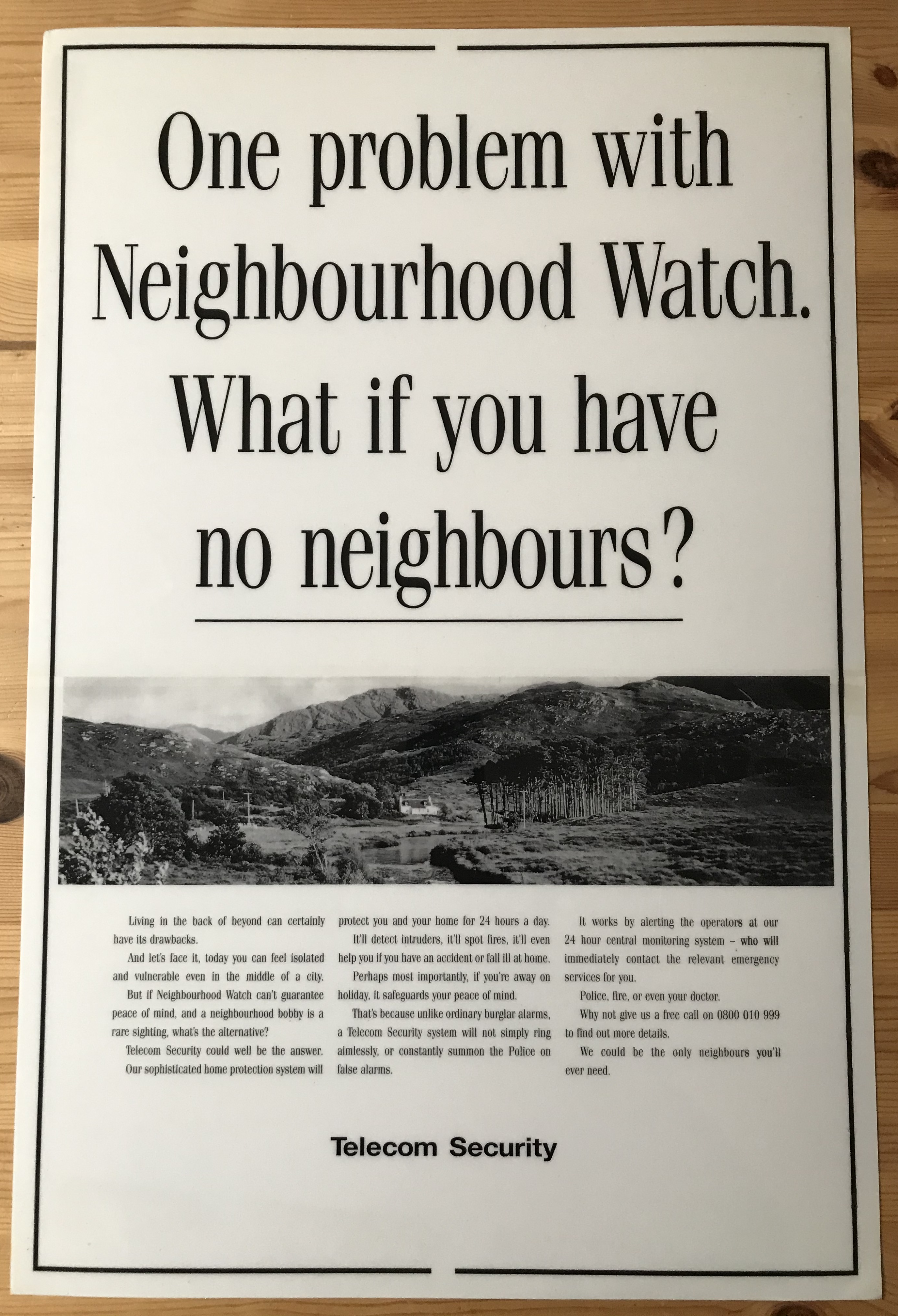 Telecom Security press ad