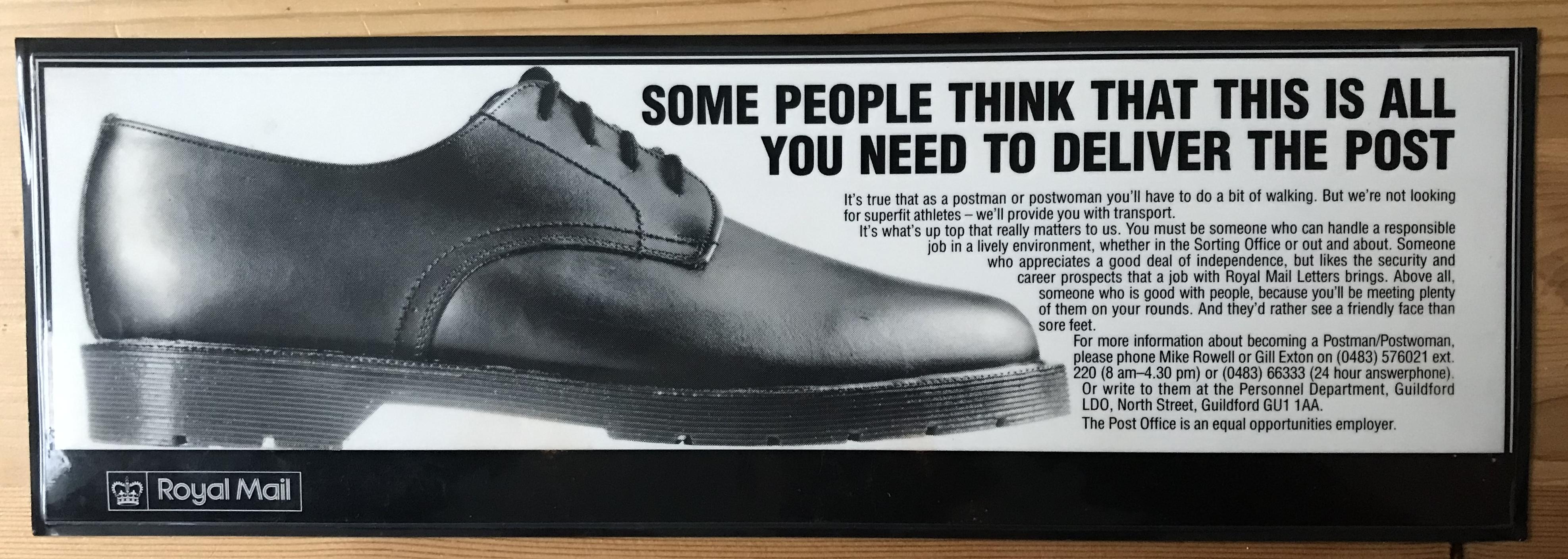 Royal Mail - press ad