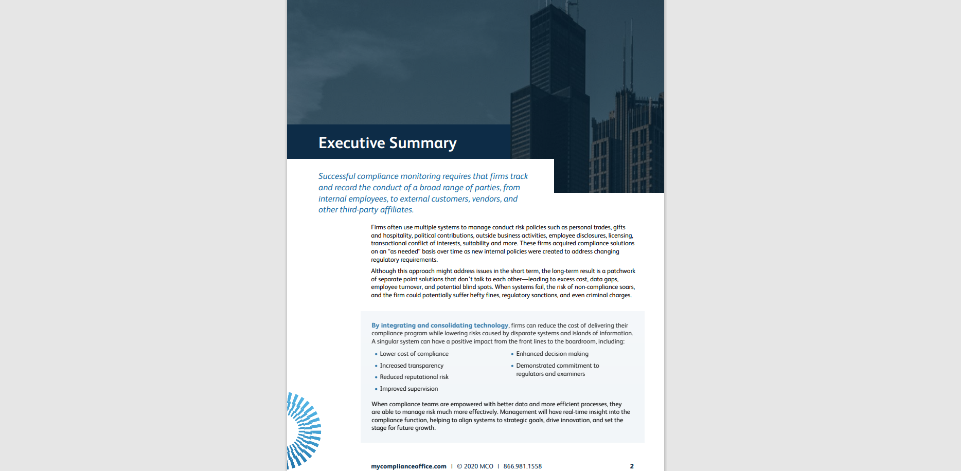 MCO consolidation technology white paper