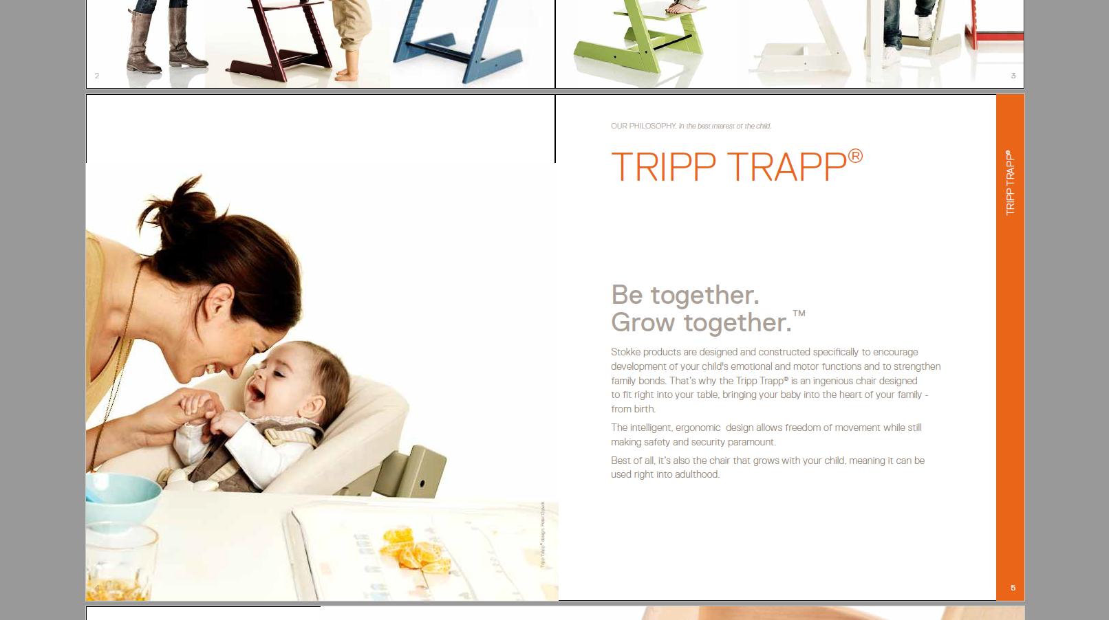 Stokke children's furniture - brochure