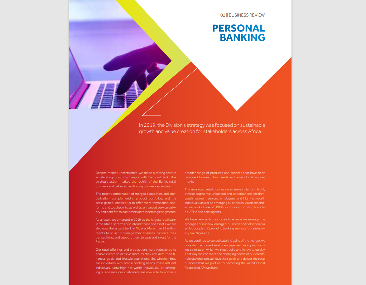 Access Bank - 2019 annual report