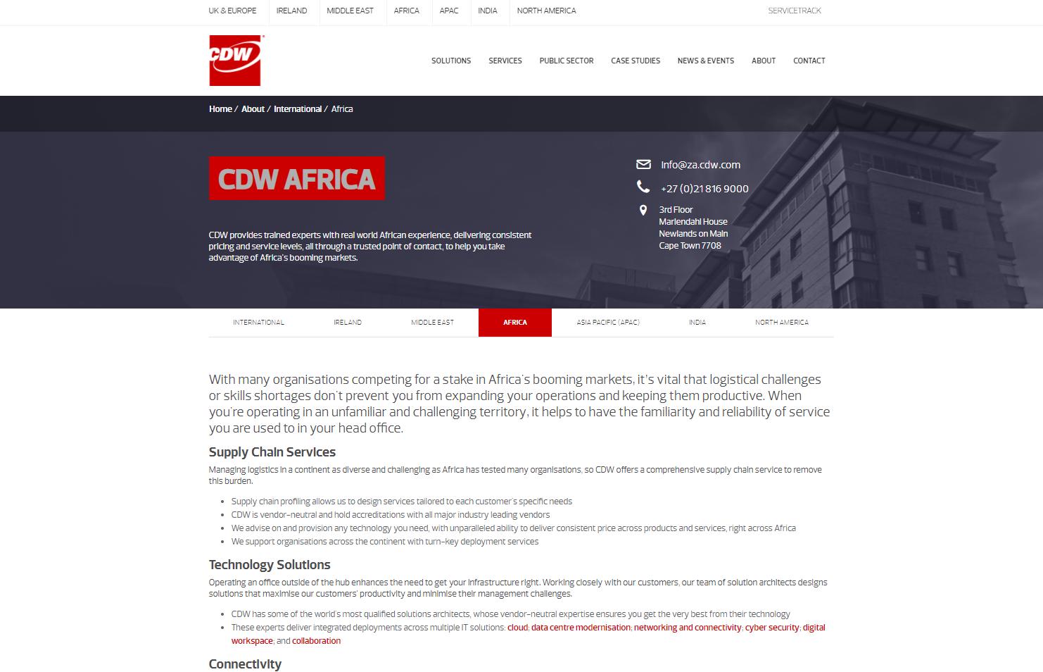 CDW Africa - web copy