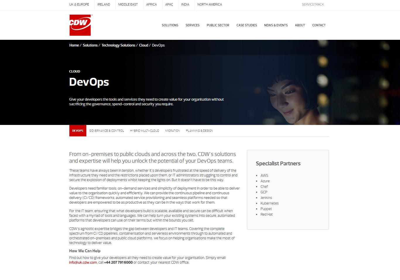 CDW web content - Cloud DevOps