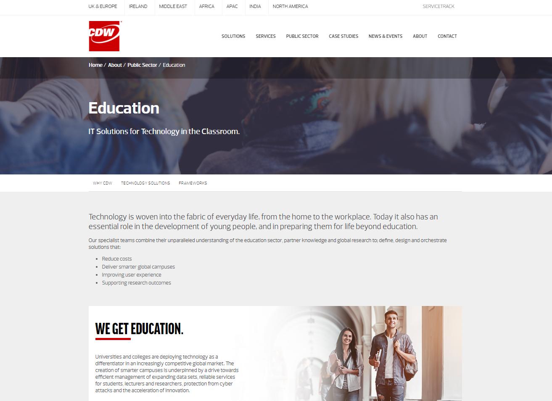 CDW web content - education technology
