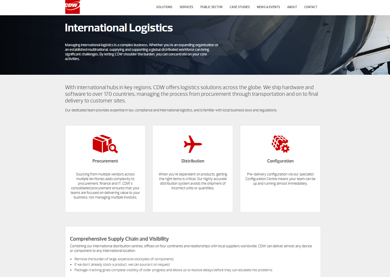 CDW web content - logistics technology