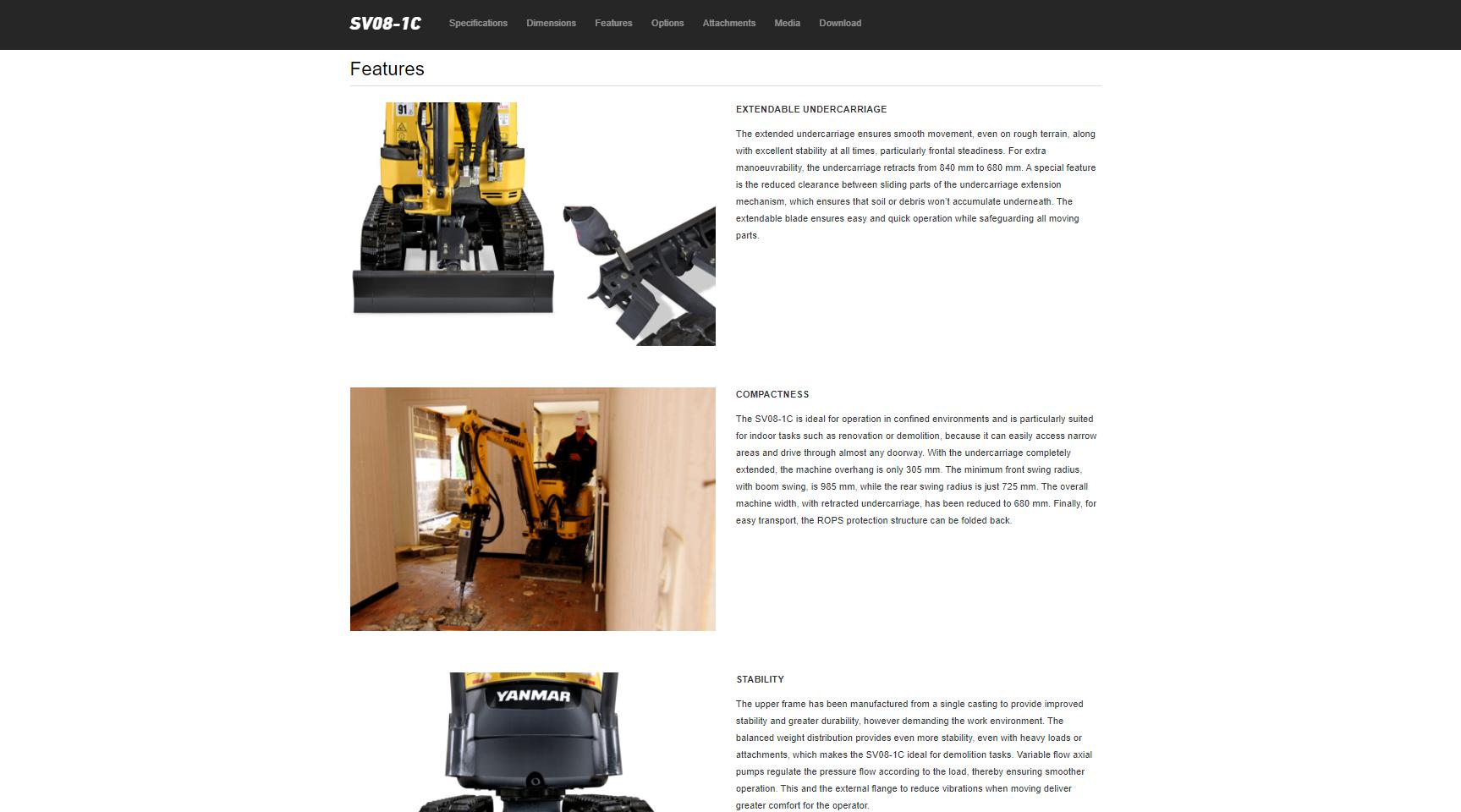 Yanmar Construction Europe - website copy