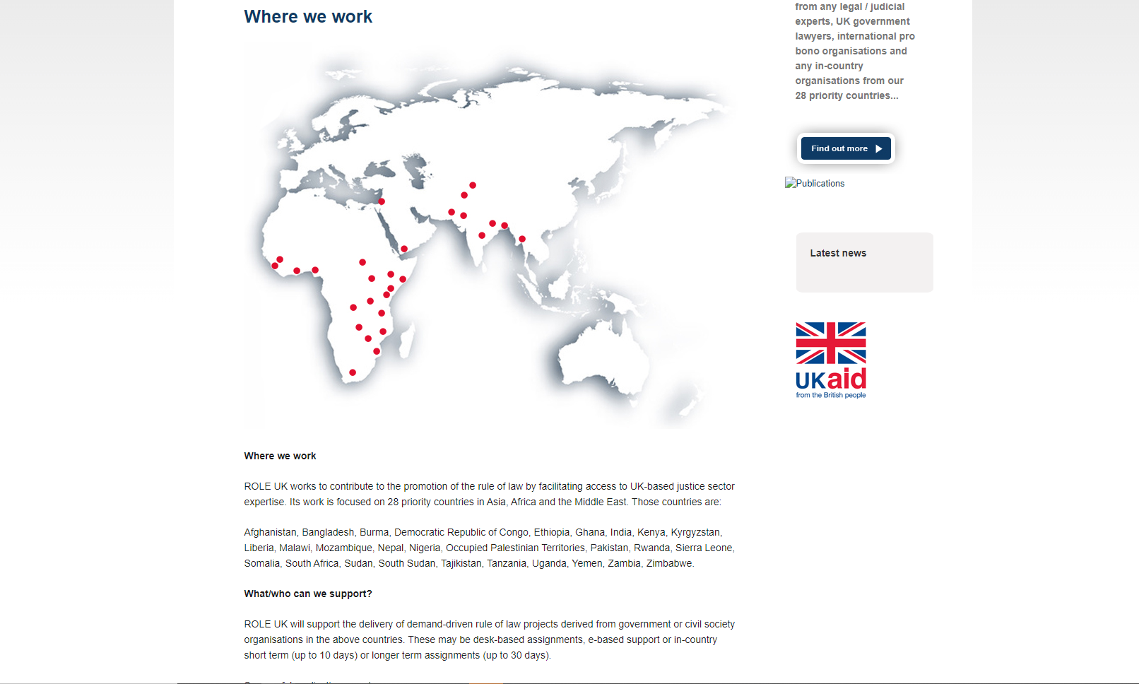 Role UK (Rule of Law Expertise UK) website